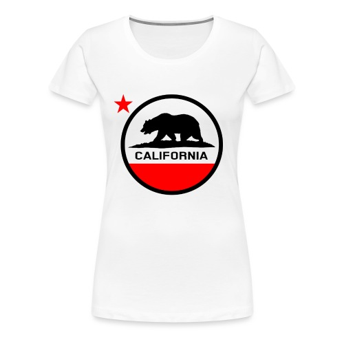 California Circle Flag - Women's Premium T-Shirt