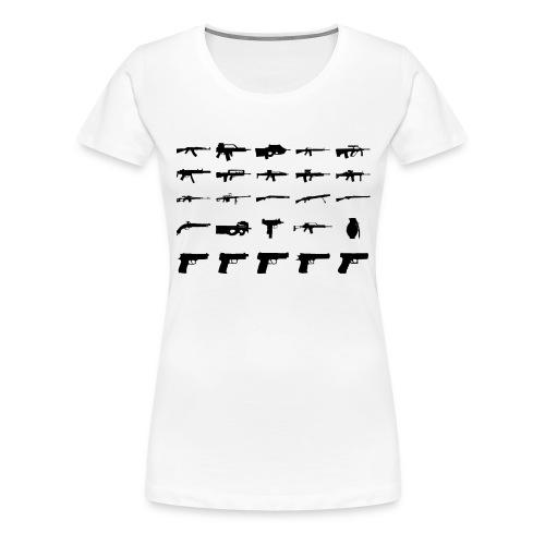 Waffen - Frauen Premium T-Shirt