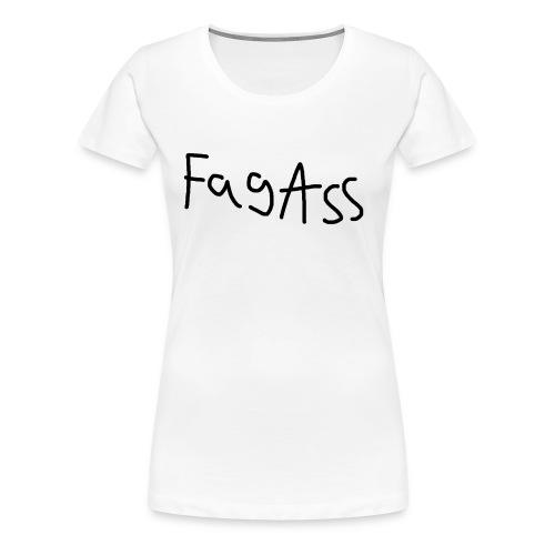 Fag Ass Logo #1 - Dame premium T-shirt
