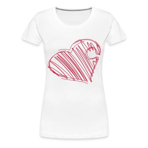 Hjertepuslebit I - Premium T-skjorte for kvinner