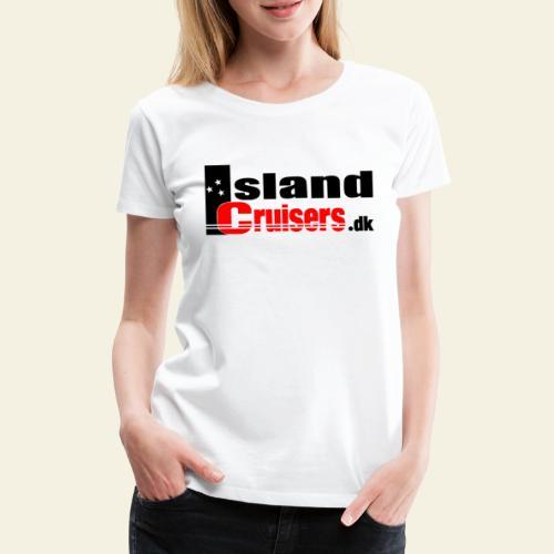 Island cruisers black - Dame premium T-shirt