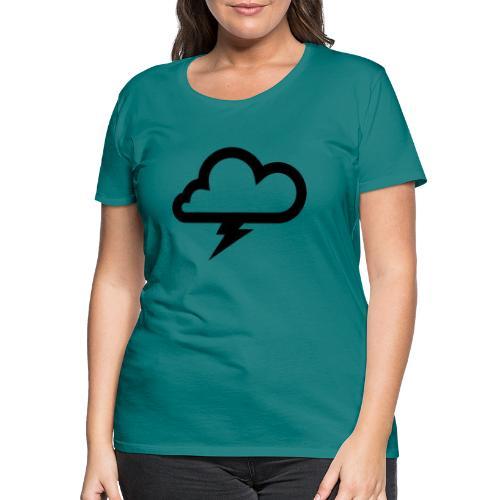 Wolke mit Blitz - Frauen Premium T-Shirt