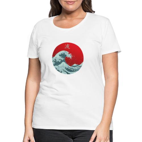 Kanagawa waves - Maglietta Premium da donna