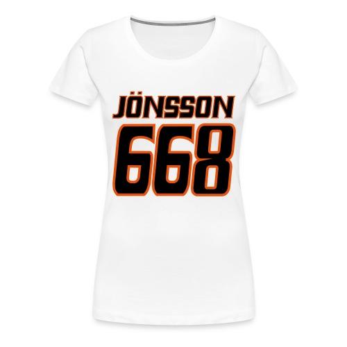 ryggtryck joensson 668 1 - Premium-T-shirt dam