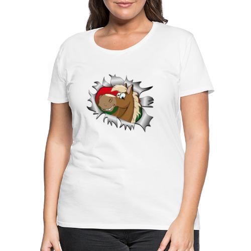 Lustiges Pferde Design Reiten - Frauen Premium T-Shirt