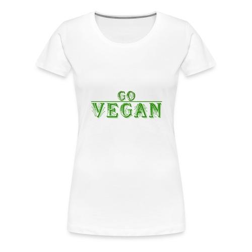 Go Vegan Langarmshirt Herren - Frauen Premium T-Shirt