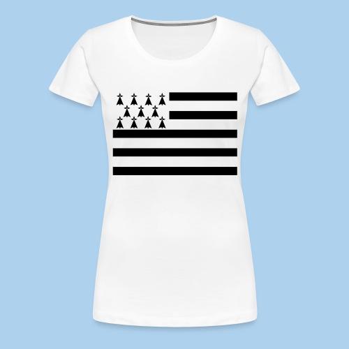 Tapis de souris Drapeau breton - T-shirt Premium Femme