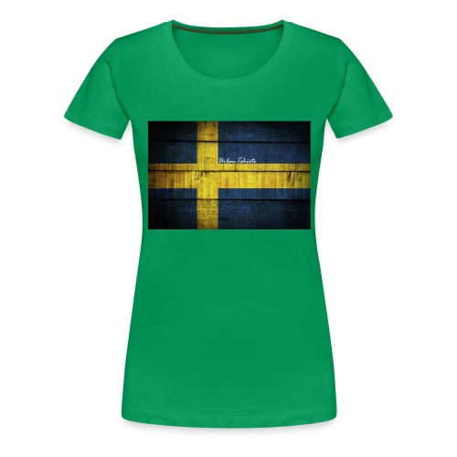 swedish-flag - Premium-T-shirt dam