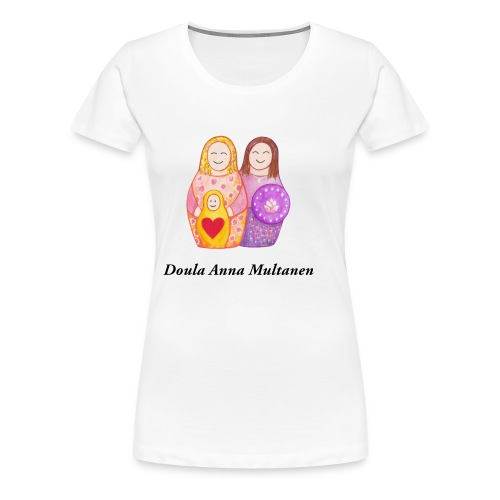 Doula Anna - Naisten premium t-paita