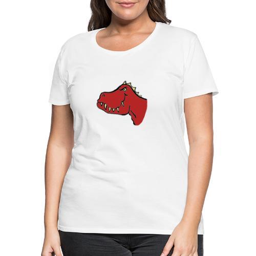 T Rex, Red Dragon - Women's Premium T-Shirt