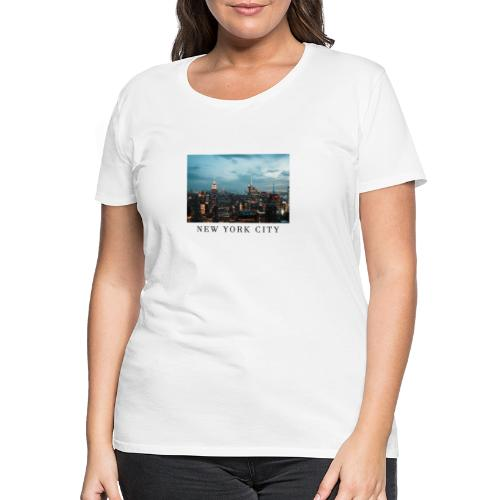 NEW YORK CITY, new york, new york photo, big city - Women's Premium T-Shirt