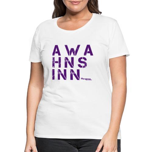 HazyShirt05awahnsinn - Frauen Premium T-Shirt
