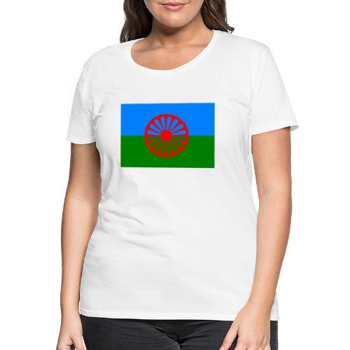 Flag of the Romani people - Premium-T-shirt dam
