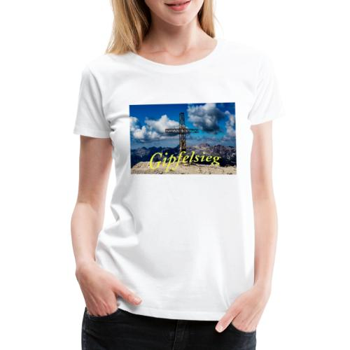 Gipfelsieg - Frauen Premium T-Shirt