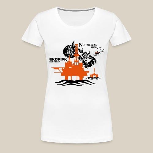 Ekofisk Oil Rig Platform North Sea Norway - Women's Premium T-Shirt