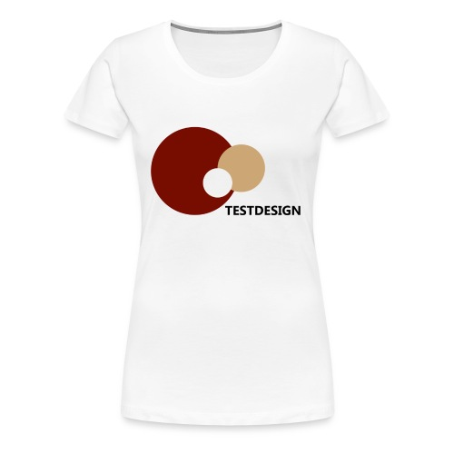 testdesign_font_black_transparent_background - Women's Premium T-Shirt