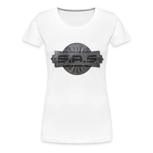 metal background scratches surface 18408 3840x2400 - Vrouwen Premium T-shirt