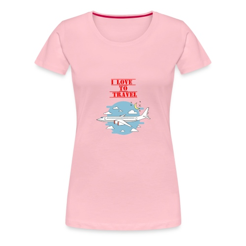 I Love To Travel - Maglietta Premium da donna