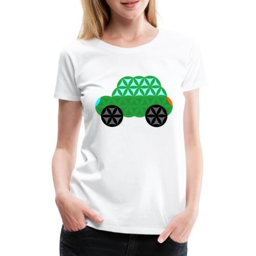 The Car Of Life - M01, Sacred Shapes, Green/363 - Women's Premium T-Shirt