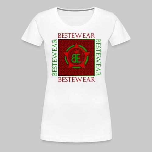 #Bestewear - Royal Line (Green/Red) - Frauen Premium T-Shirt