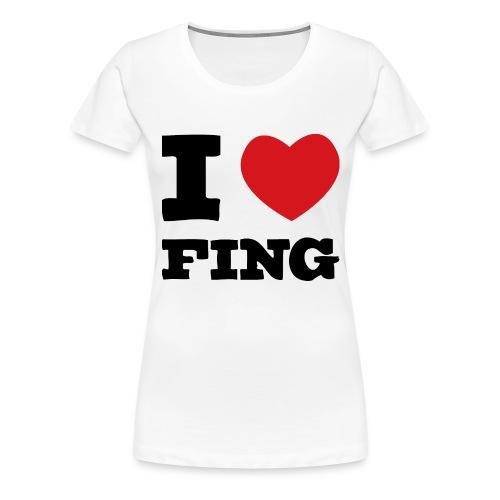 I Love FIng - Premium-T-shirt dam
