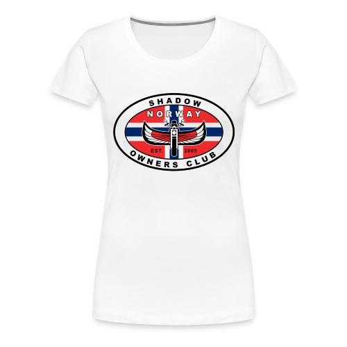 SHOC Norway Patch jpg - Premium T-skjorte for kvinner