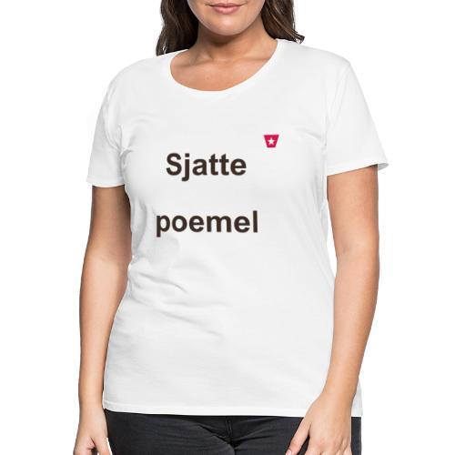 Sjattepoemel ms vert b2 - Vrouwen Premium T-shirt