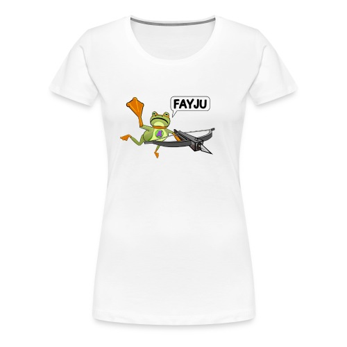 Amazing Frog Crossbow - Women's Premium T-Shirt