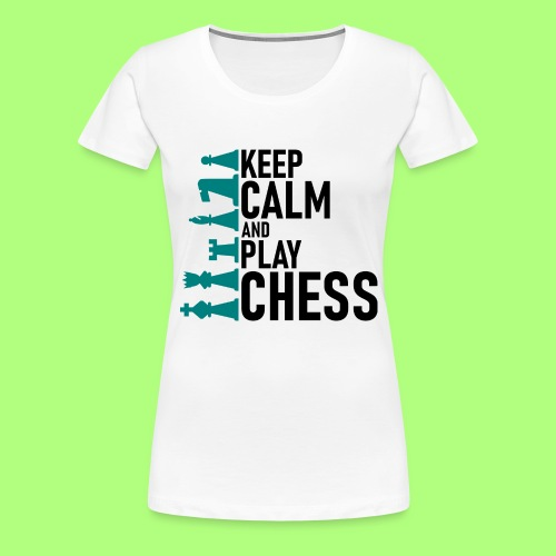 Spiel shirt Schule chess school - Frauen Premium T-Shirt