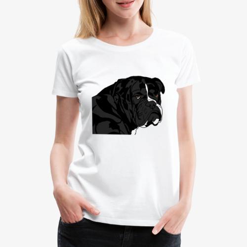bulldog noir - T-shirt Premium Femme