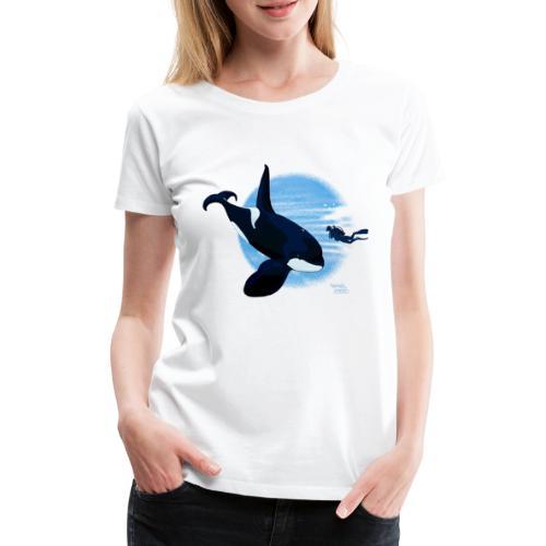 Orca en dappere duiker - T-shirt Premium Femme