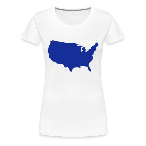 usa map - Women's Premium T-Shirt