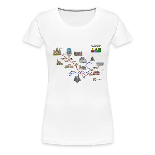 A146 Map 2 - Women's Premium T-Shirt