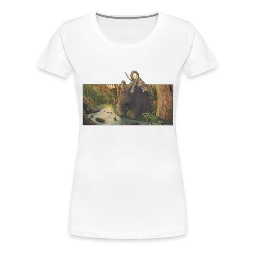 Orso e bambina - Wandering Claw - Maglietta Premium da donna