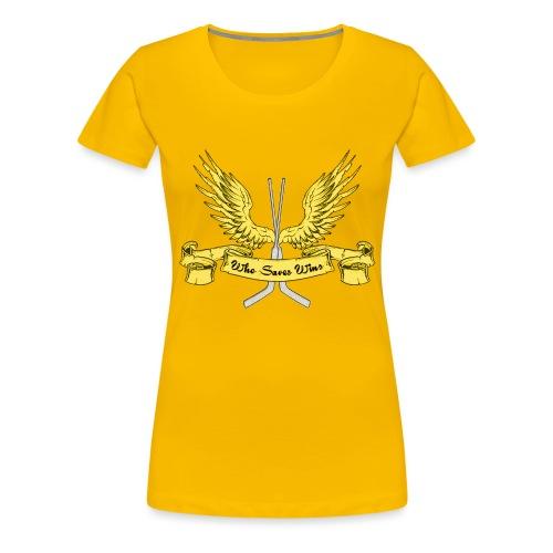Who Saves Wins, Hockey Goalie - Women's Premium T-Shirt