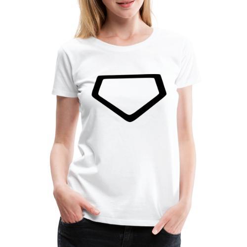 Baseball Homeplate Outline - Women's Premium T-Shirt