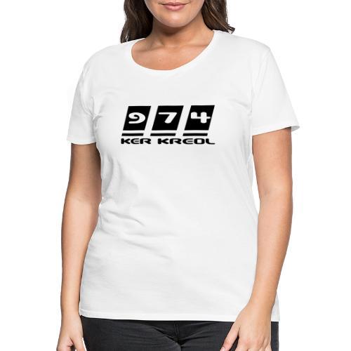 974 Ker Kreol Black POWER - T-shirt Premium Femme
