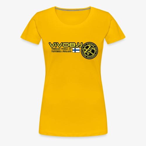 ViVoBJJ Patch White - Naisten premium t-paita