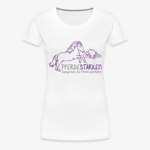 mareike pferdestaerken logo fin3 spreadshirt - Frauen Premium T-Shirt