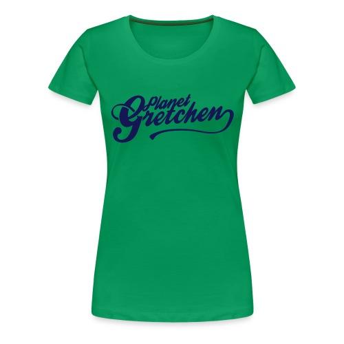 Planet Gretchen svart - Premium-T-shirt dam