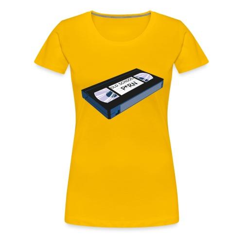 OLD SCHOOL P * RN vhs - T-shirt Premium Femme