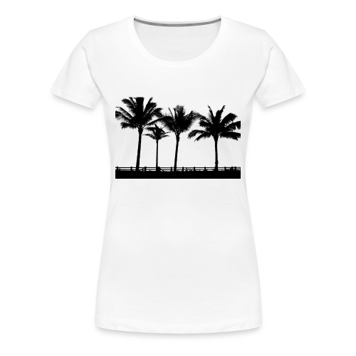 Palm trees - Premium-T-shirt dam