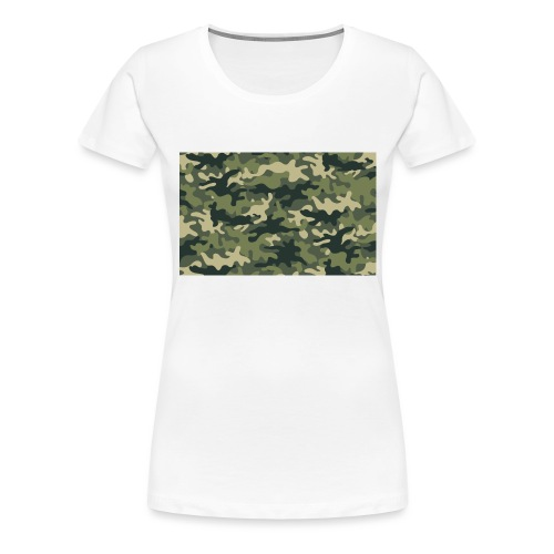 Camouflage texture vert - T-shirt Premium Femme