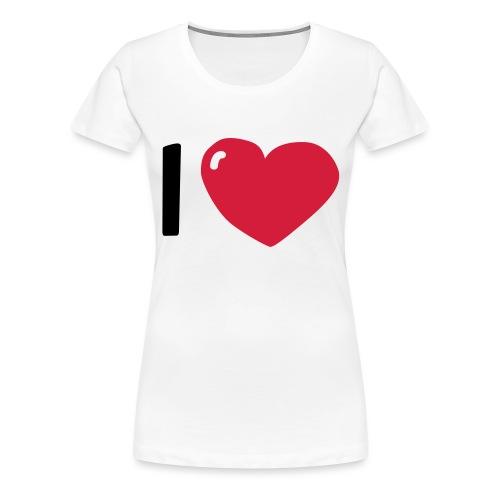 I love / I heart / I herz (Waldorf Style) - Frauen Premium T-Shirt