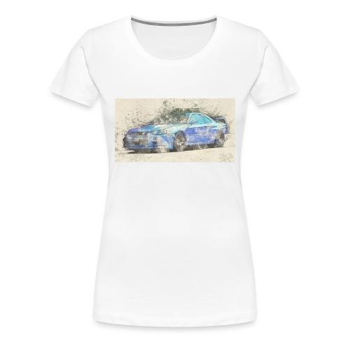 GTR R34 watercolors - Frauen Premium T-Shirt