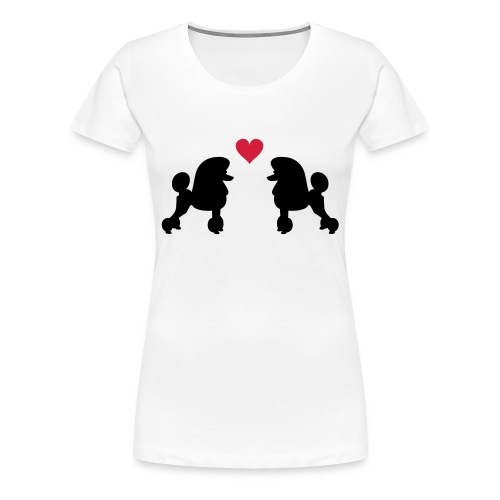 Villakoira tupla1 - Naisten premium t-paita