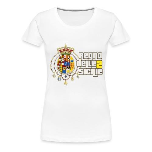 regno delle 2 sicilie testo bianco - Maglietta Premium da donna