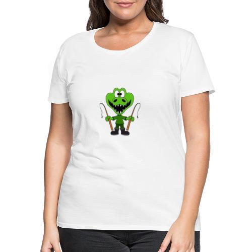 Lustiges Krokodil - Angeln - Angler - Fun - Frauen Premium T-Shirt