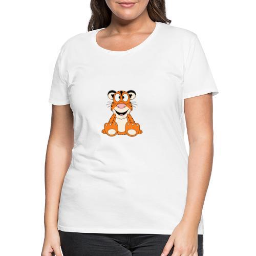 Lustiger Tiger - Kinder - Baby - Tier - Fun - Frauen Premium T-Shirt