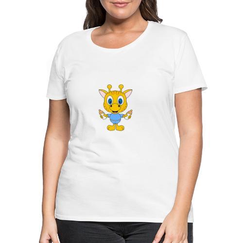 Lustige Giraffe - Baby - Geburt - Tier - Milch - Frauen Premium T-Shirt